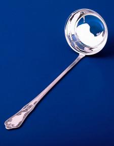 Серебряная ложка разливательная малая №10