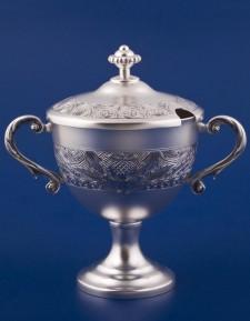 Серебряная ваза для варенья №42