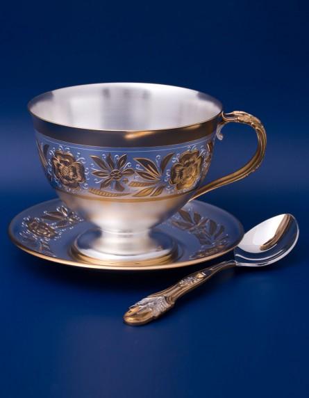 Серебряный чайный набор №3