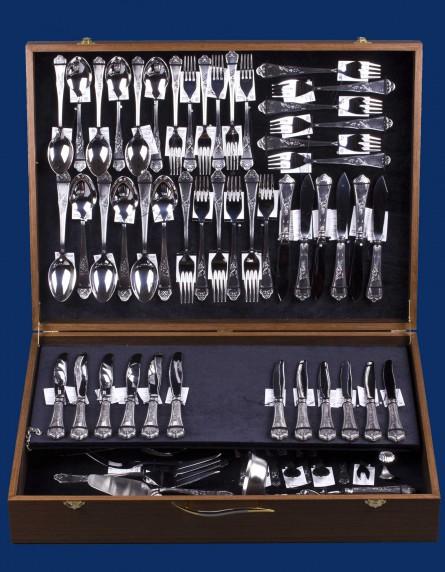 Набор столового серебра на 6 персон №10 (полная сервировка 86 предметов)