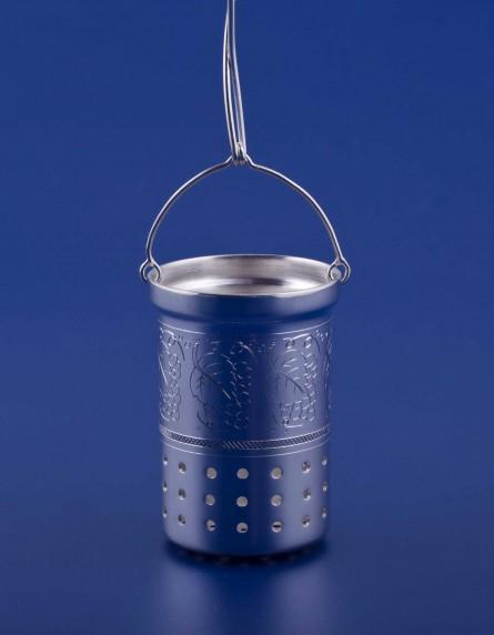 Серебряная емкость для заварки №4