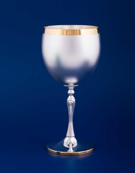 Серебряный бокал для красного вина №38