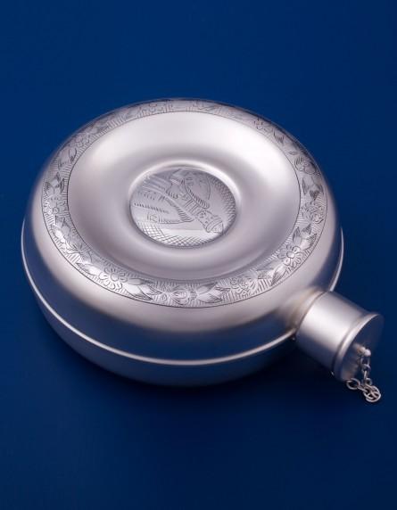 Серебряная фляжка №1