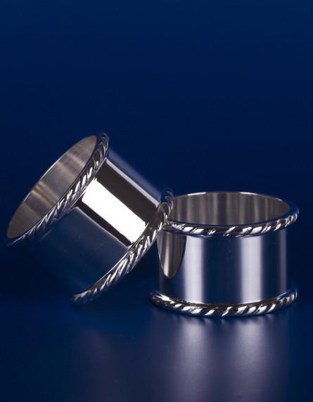 Серебряное кольцо для салфеток №8