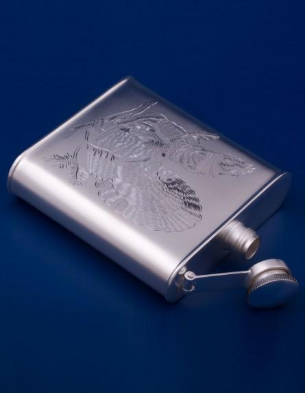 Серебряная фляжка №12