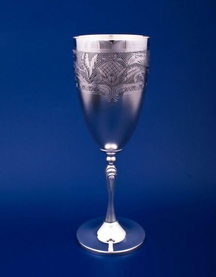 Серебряный бокал для шампанского №42