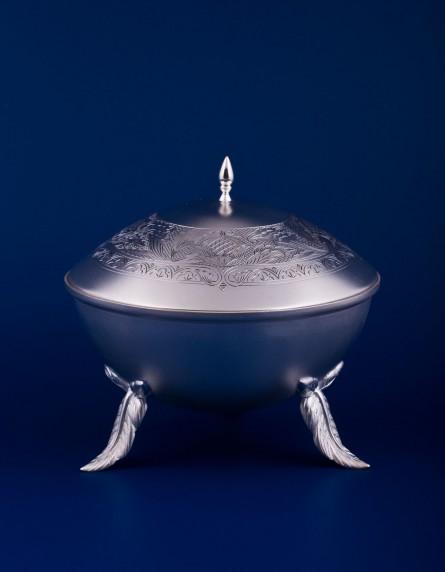 Серебряная ваза для мёда №22
