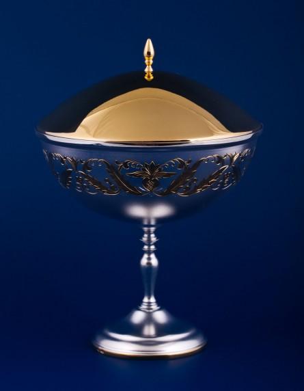 Серебряная ваза для варенья №12