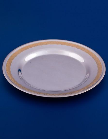 Тарелка серебряная закусочная №16