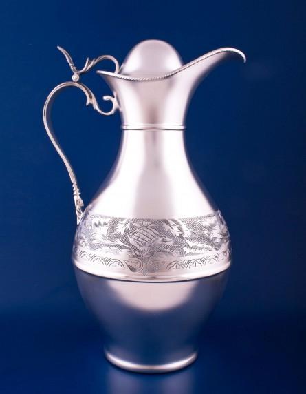 Серебряный кувшин для воды №8